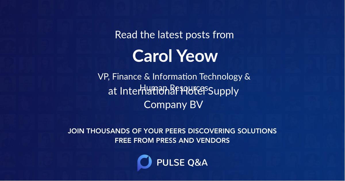 Carol Yeow