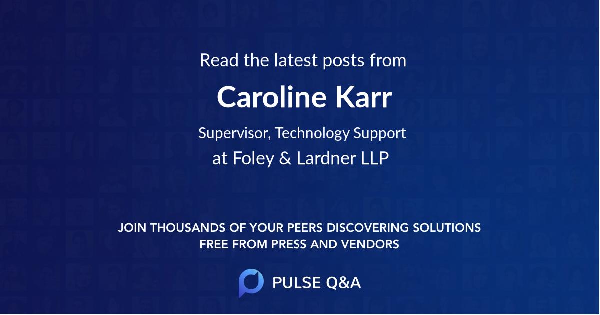 Caroline Karr