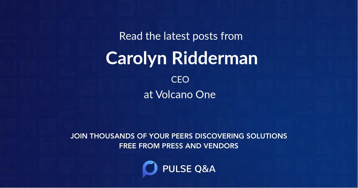 Carolyn Ridderman