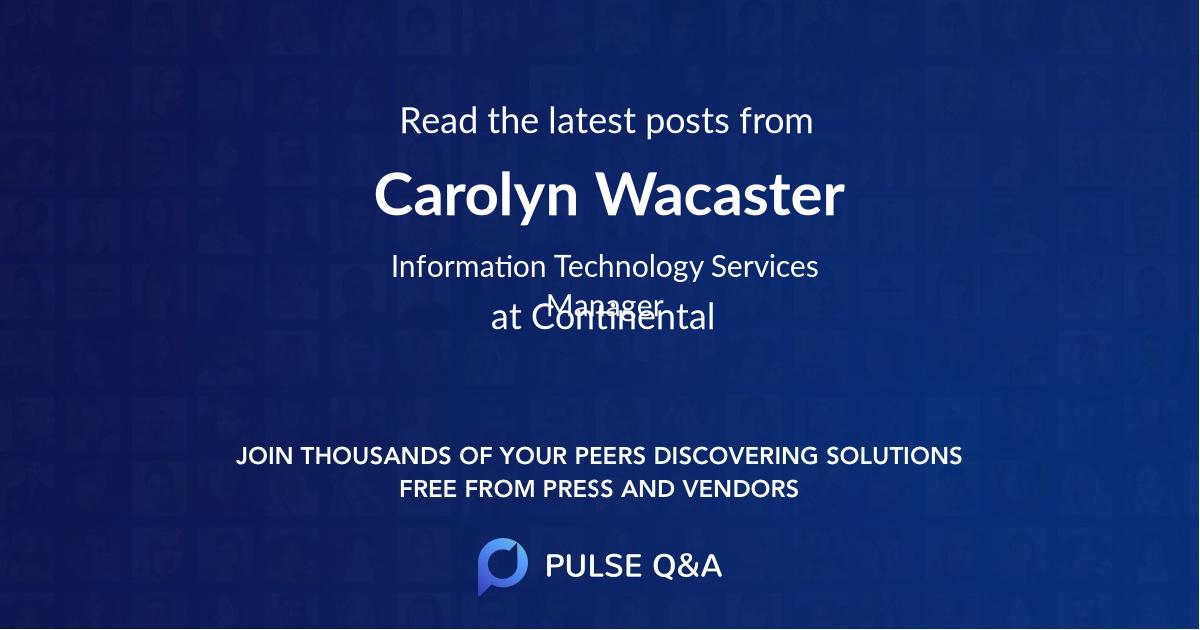 Carolyn Wacaster