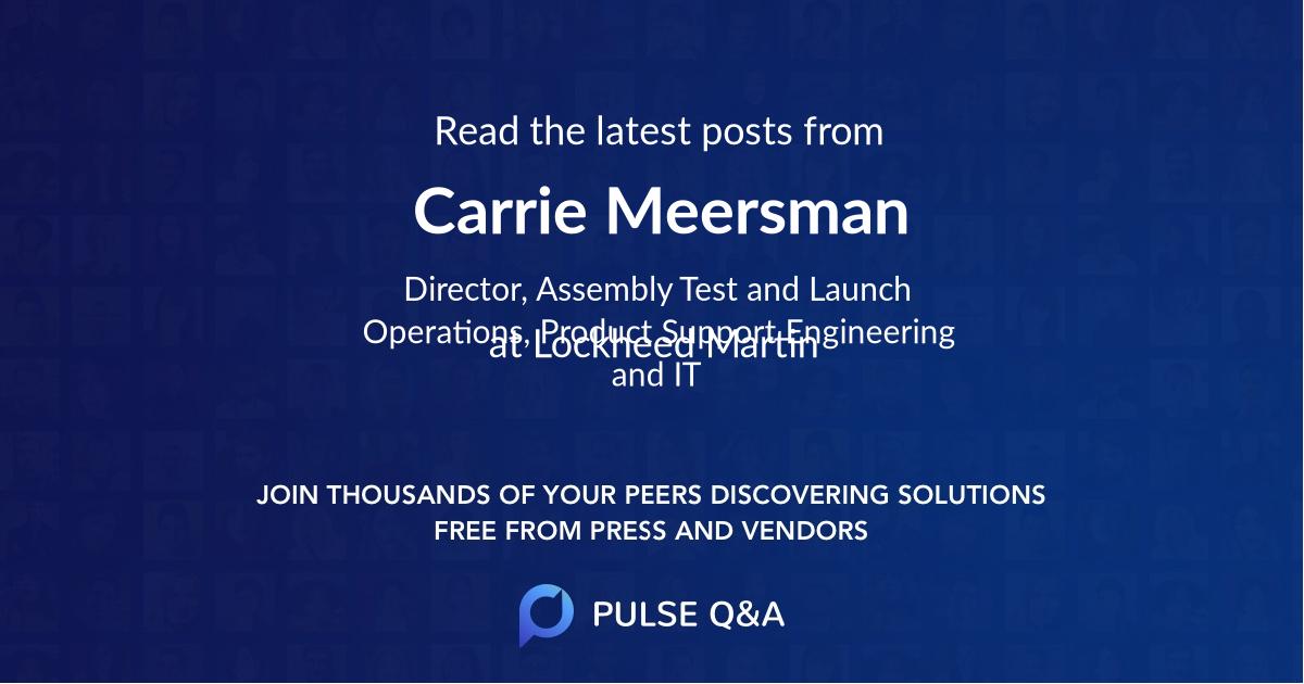 Carrie Meersman