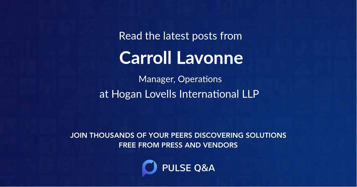 Carroll Lavonne