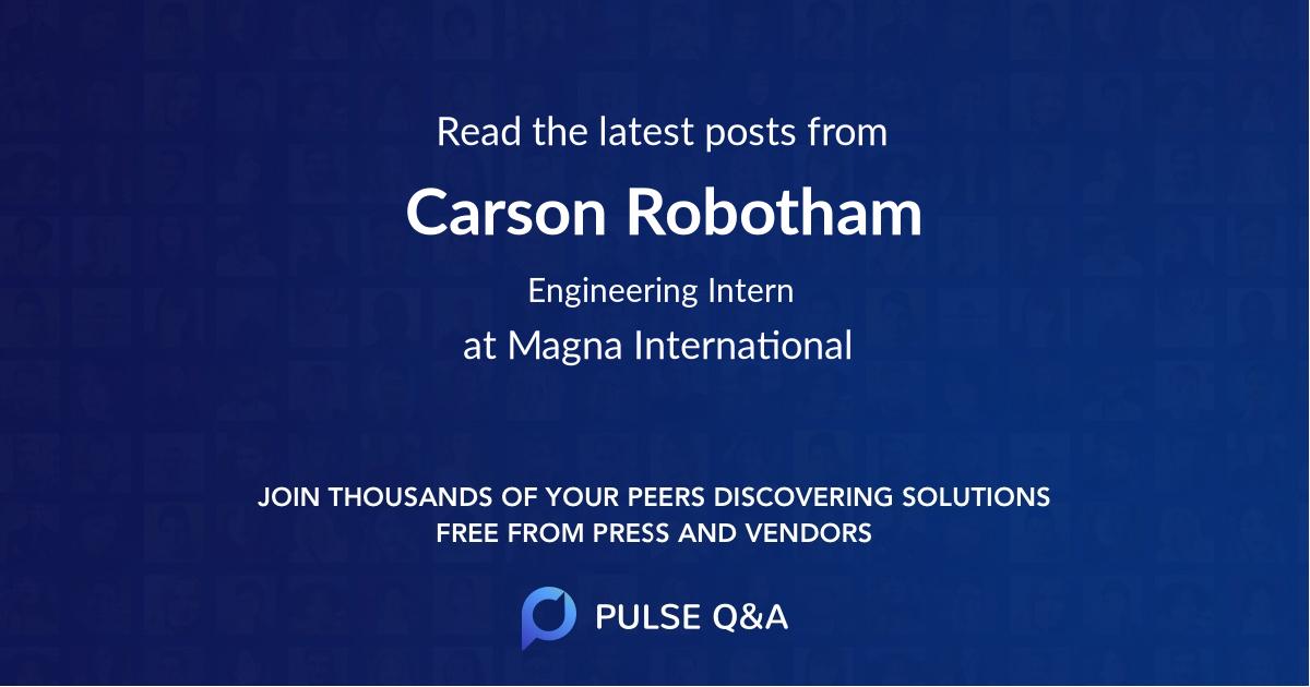 Carson Robotham