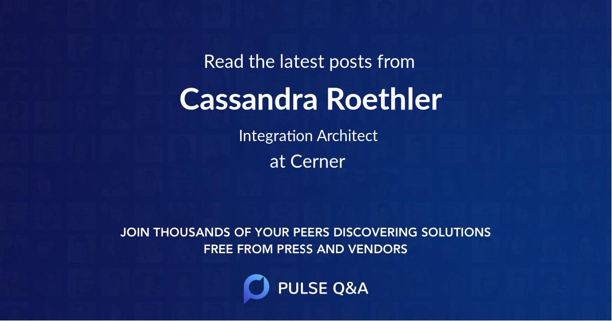 Cassandra Roethler