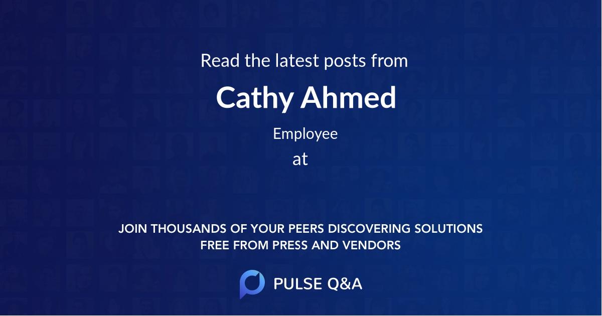 Cathy Ahmed