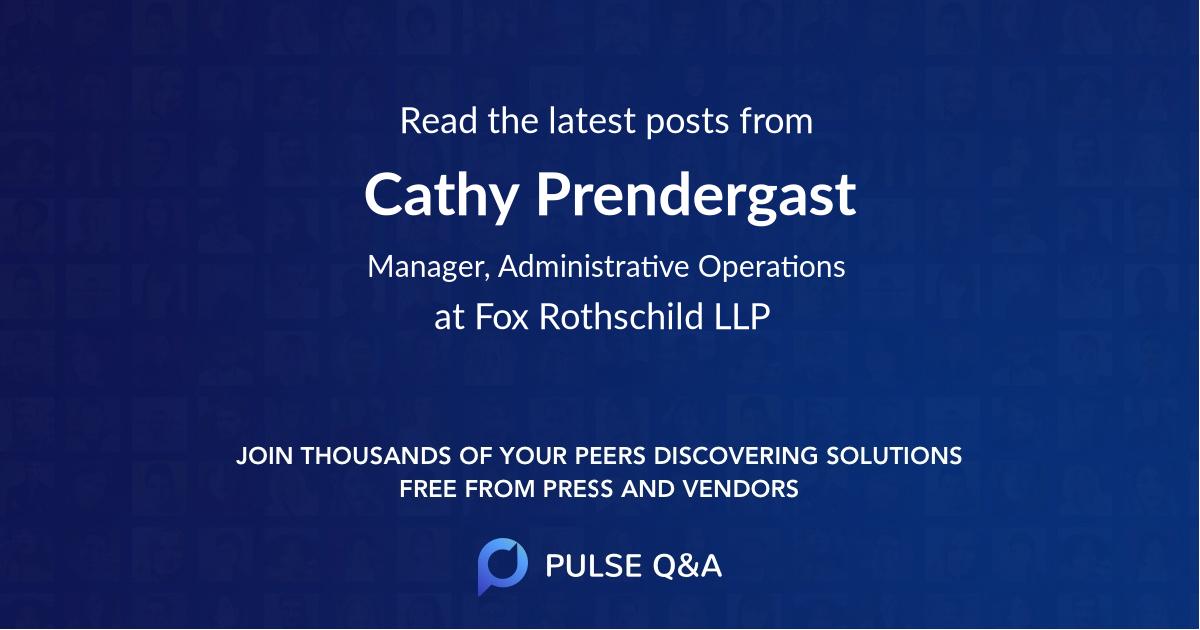 Cathy Prendergast