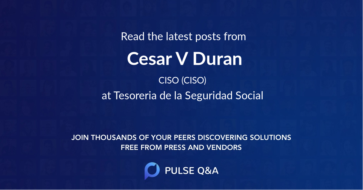 Cesar V. Duran