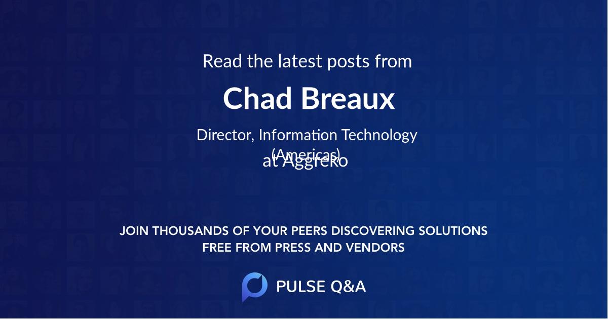 Chad Breaux