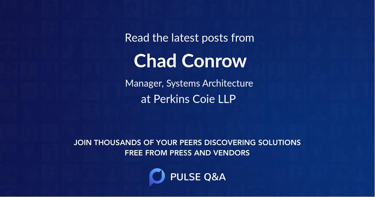 Chad Conrow