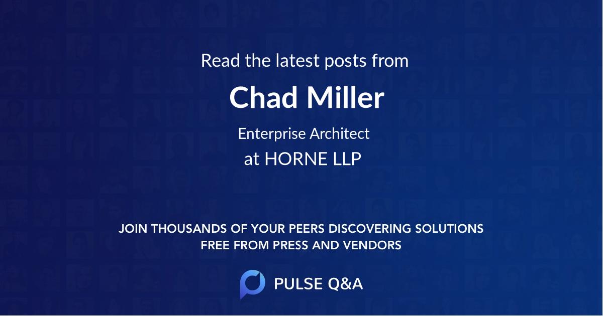 Chad Miller