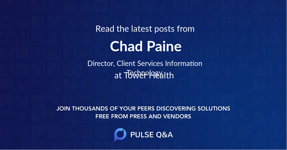 Chad Paine