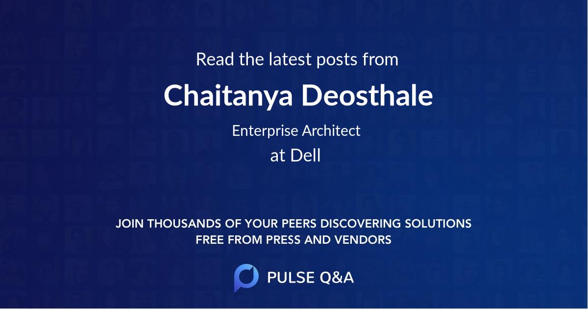 Chaitanya Deosthale