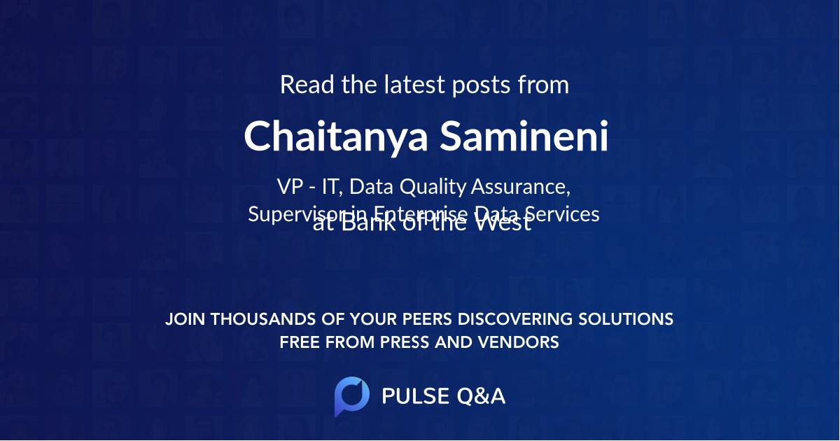 Chaitanya Samineni
