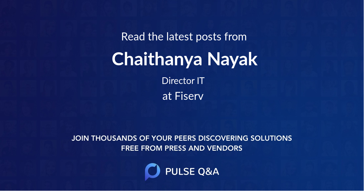 Chaithanya Nayak