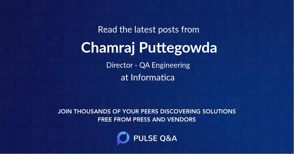 Chamraj Puttegowda