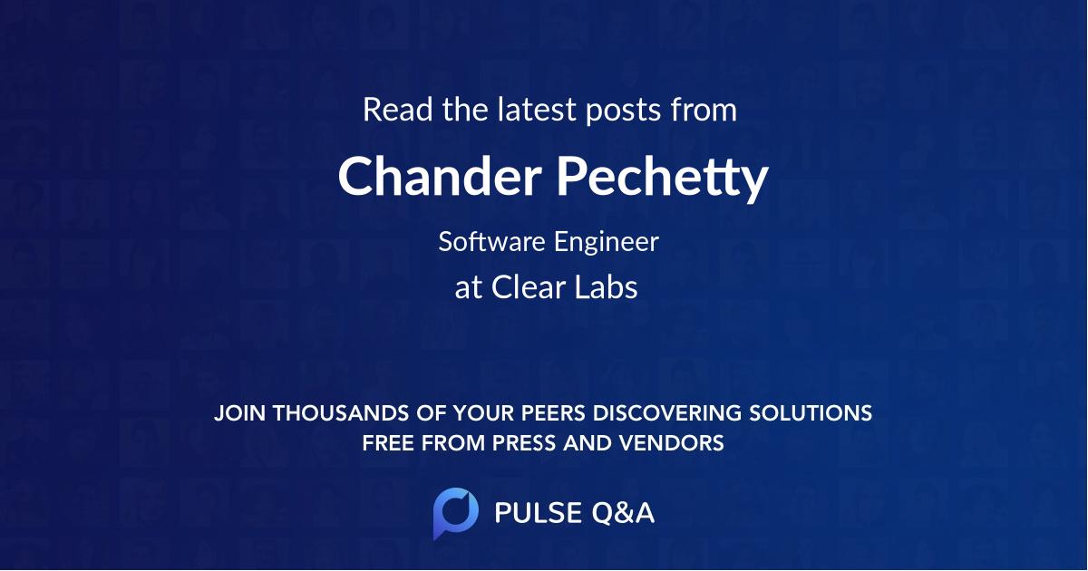 Chander Pechetty