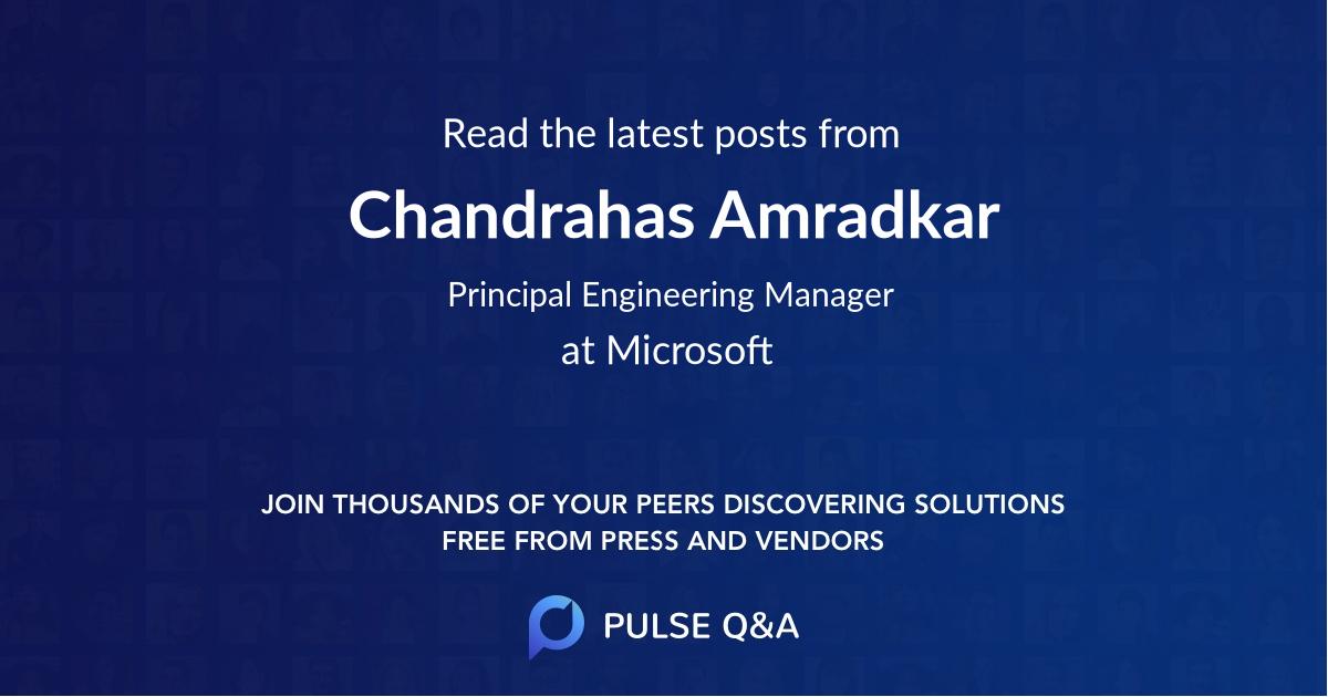 Chandrahas Amradkar