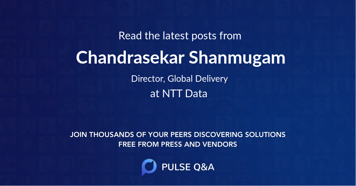 Chandrasekar Shanmugam