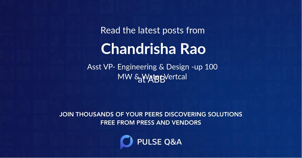 Chandrisha Rao
