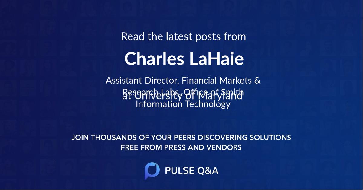 Charles LaHaie