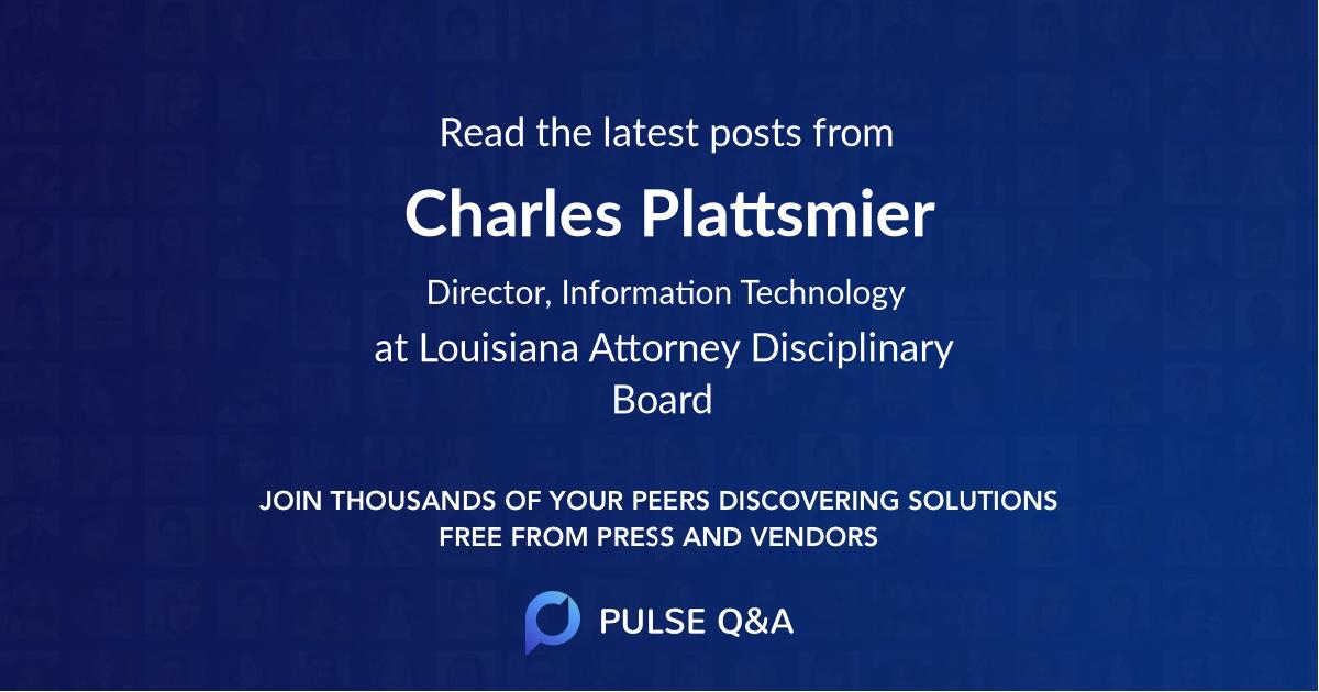 Charles Plattsmier