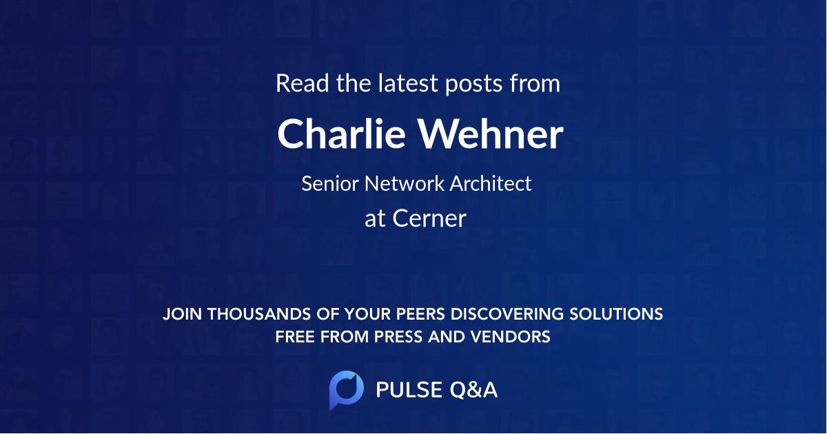 Charlie Wehner