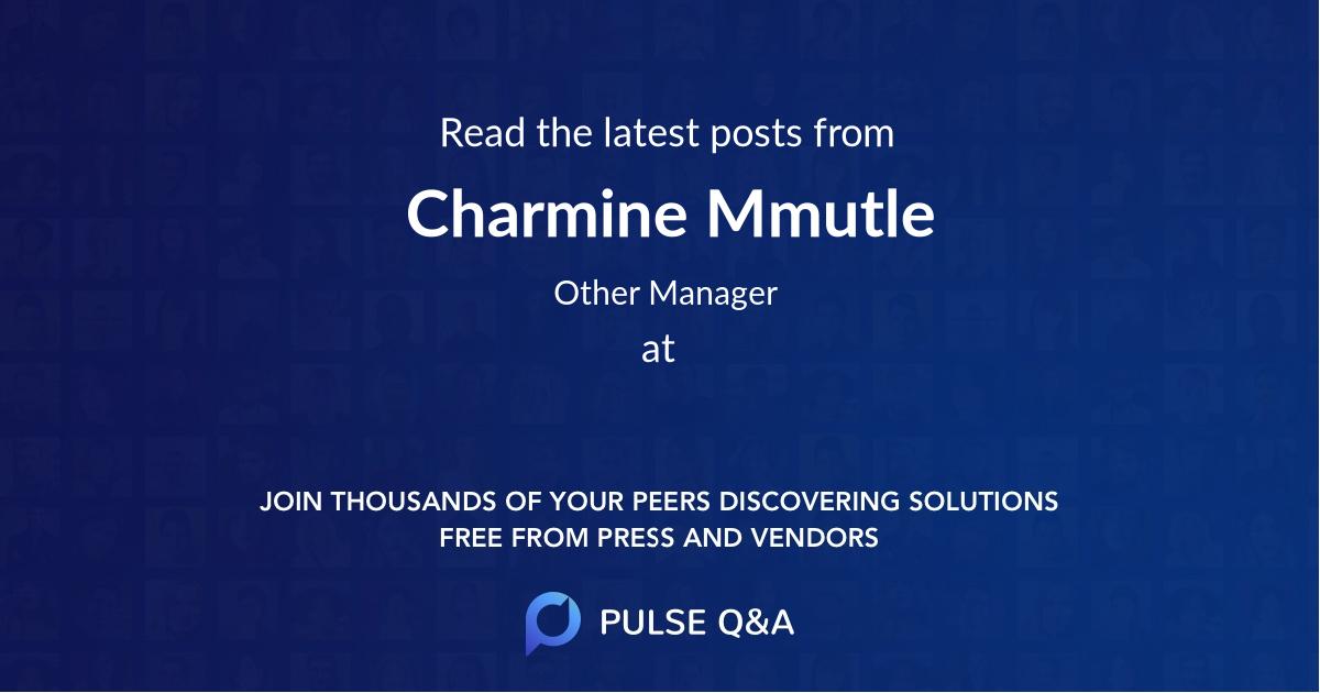 Charmine Mmutle