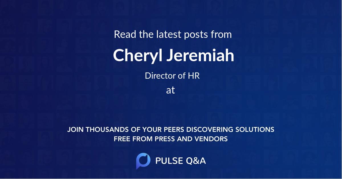 Cheryl Jeremiah