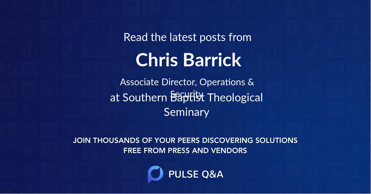 Chris Barrick