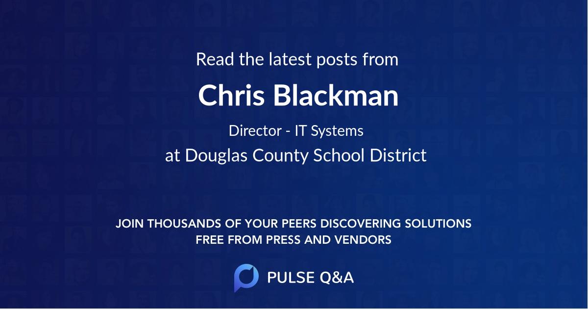 Chris Blackman