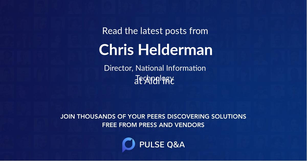 Chris Helderman