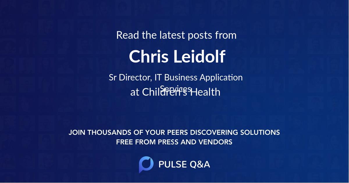 Chris Leidolf