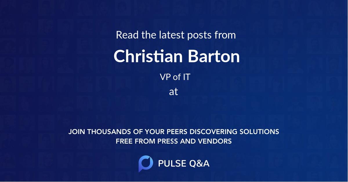 Christian Barton