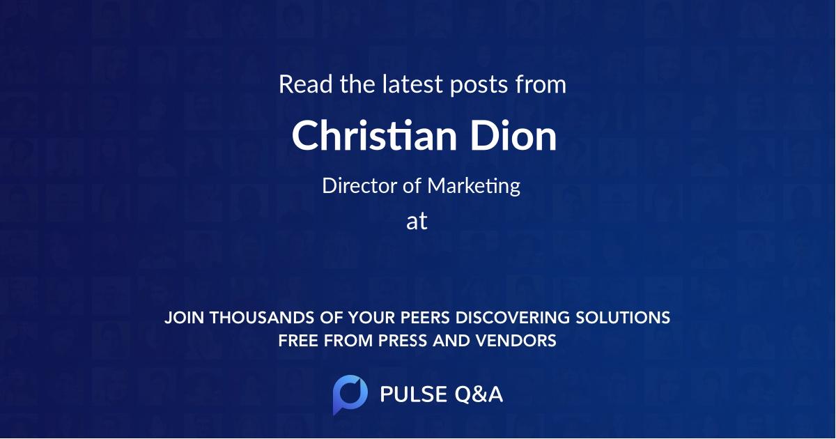 Christian Dion