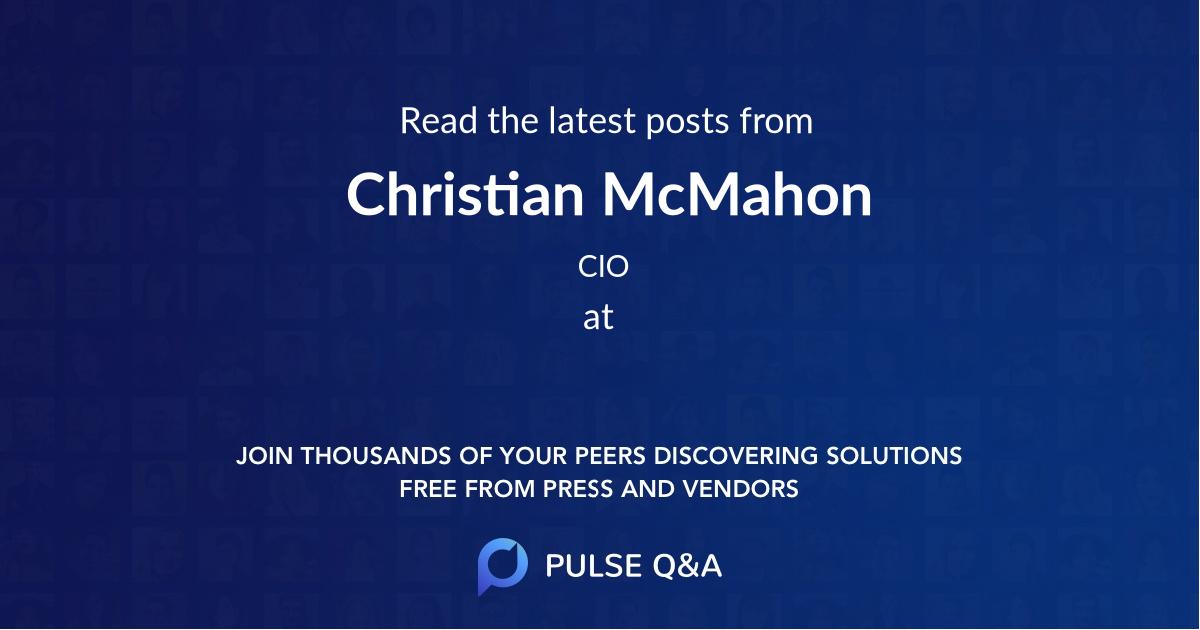 Christian McMahon