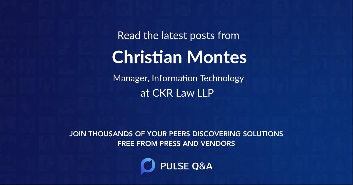 Christian Montes