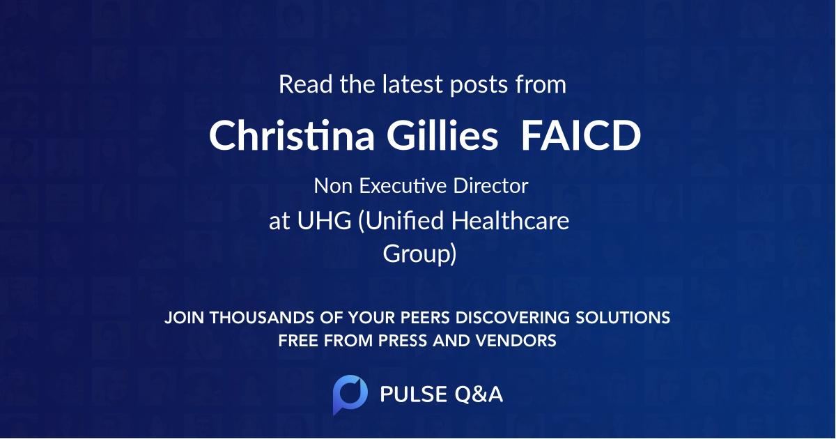 Christina Gillies  FAICD