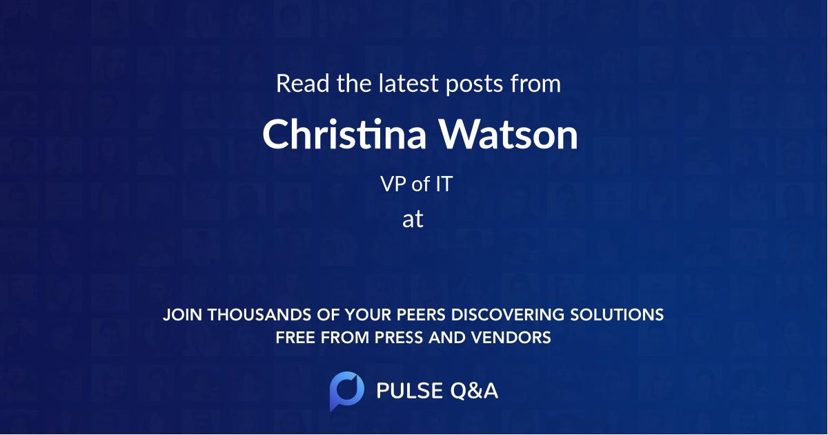Christina Watson