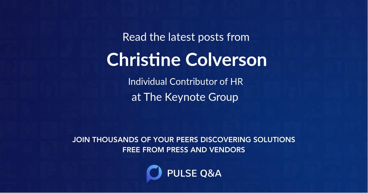 Christine Colverson