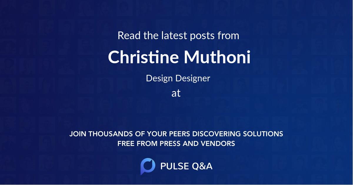 Christine Muthoni