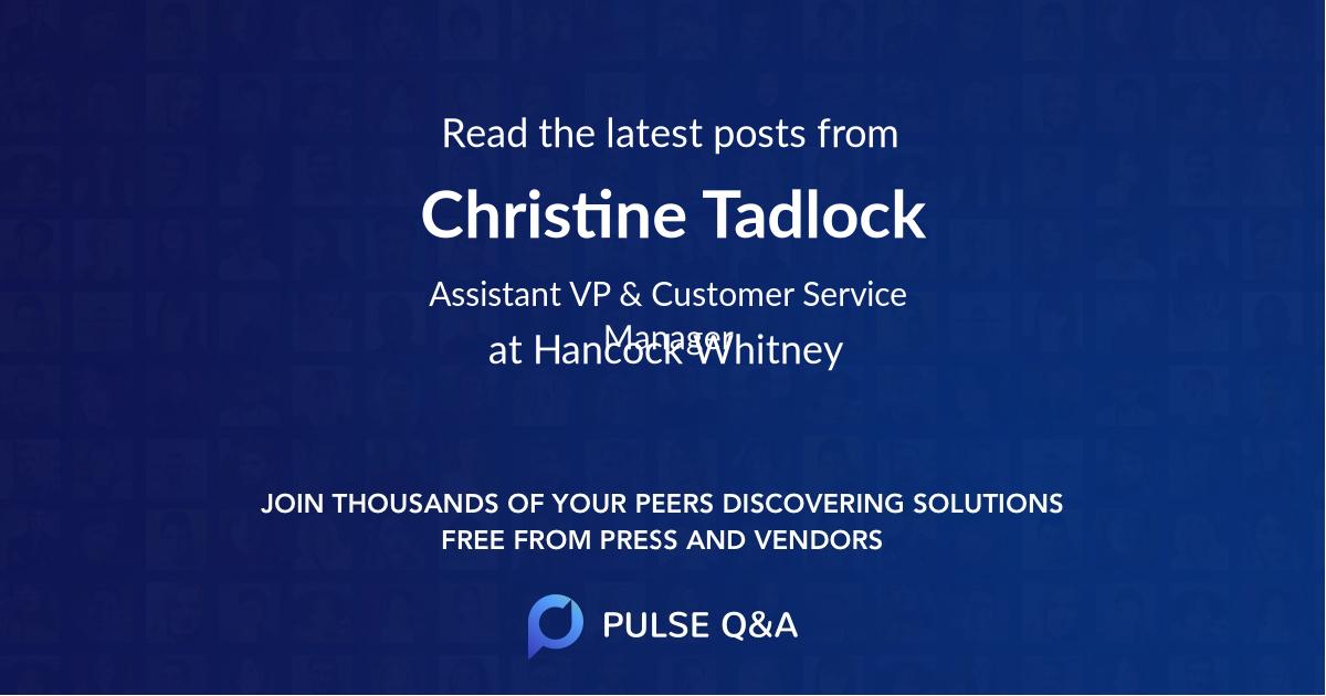 Christine Tadlock
