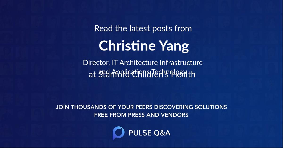Christine Yang