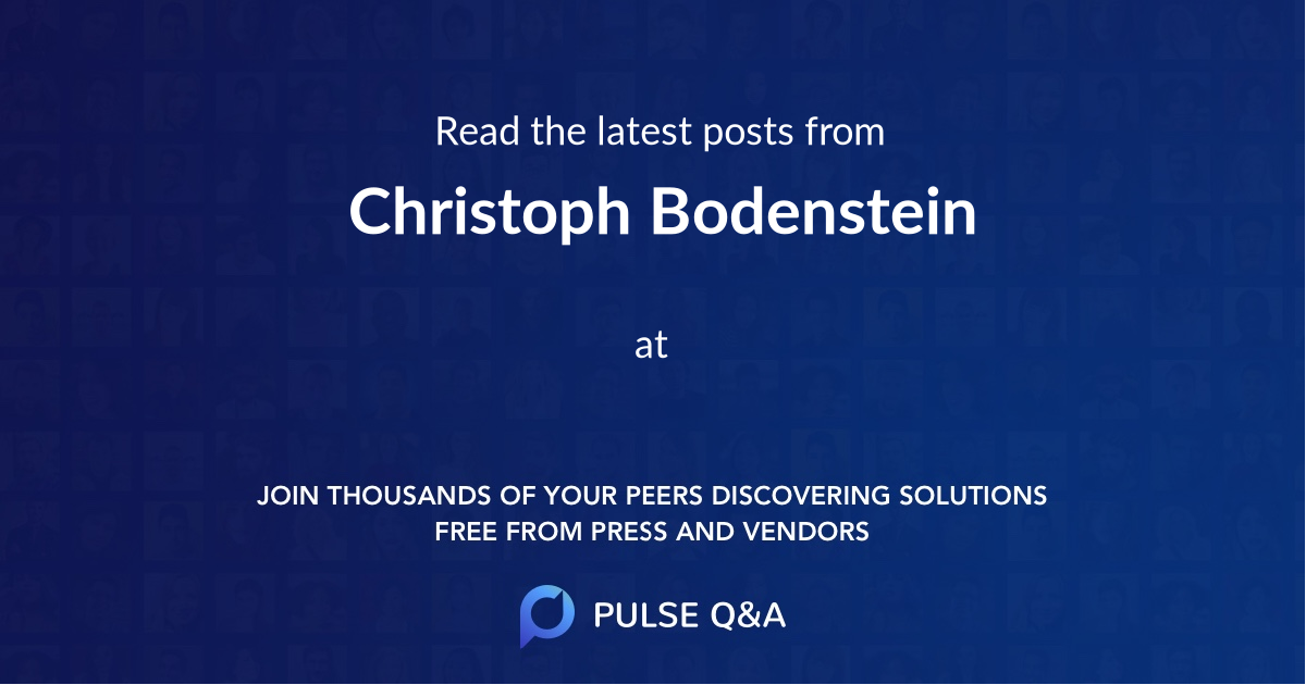 Christoph Bodenstein