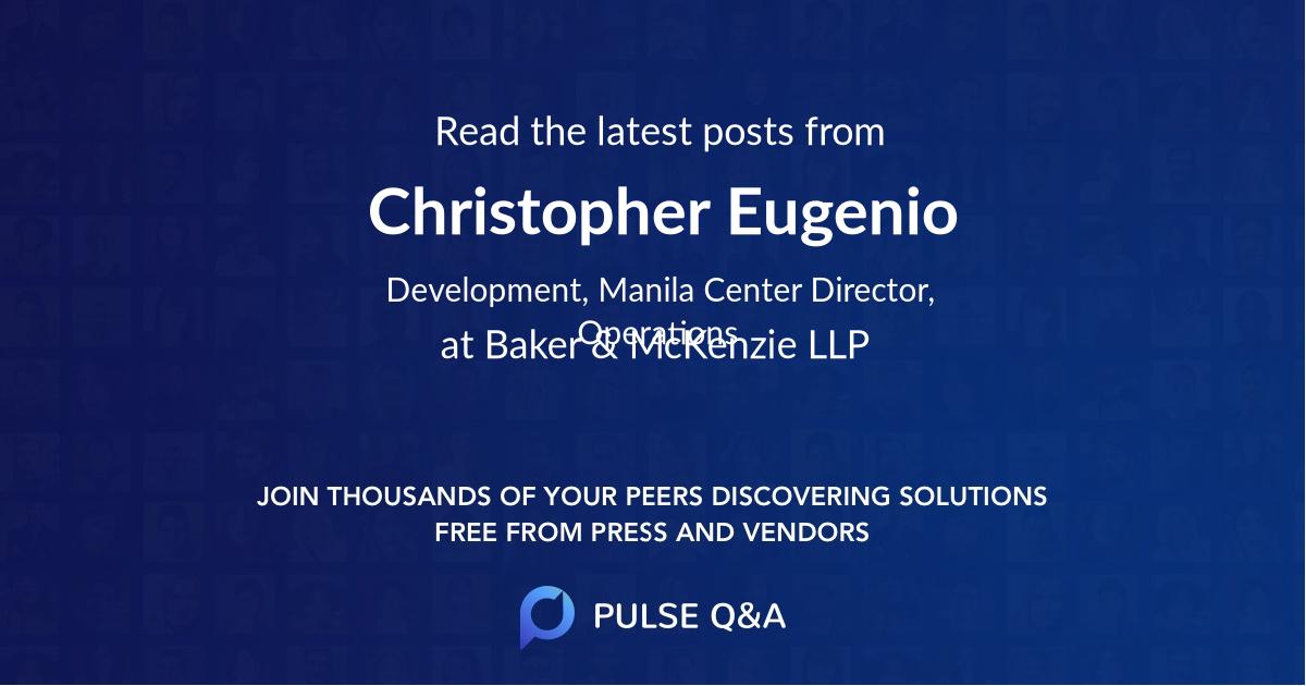 Christopher Eugenio
