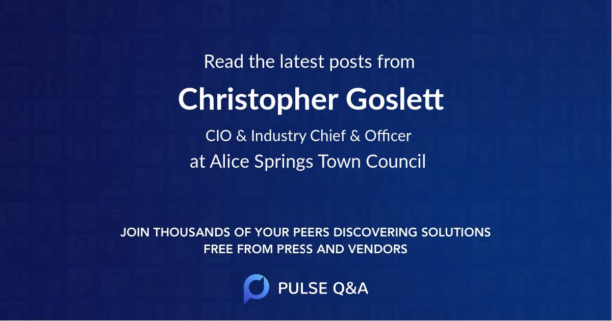 Christopher Goslett