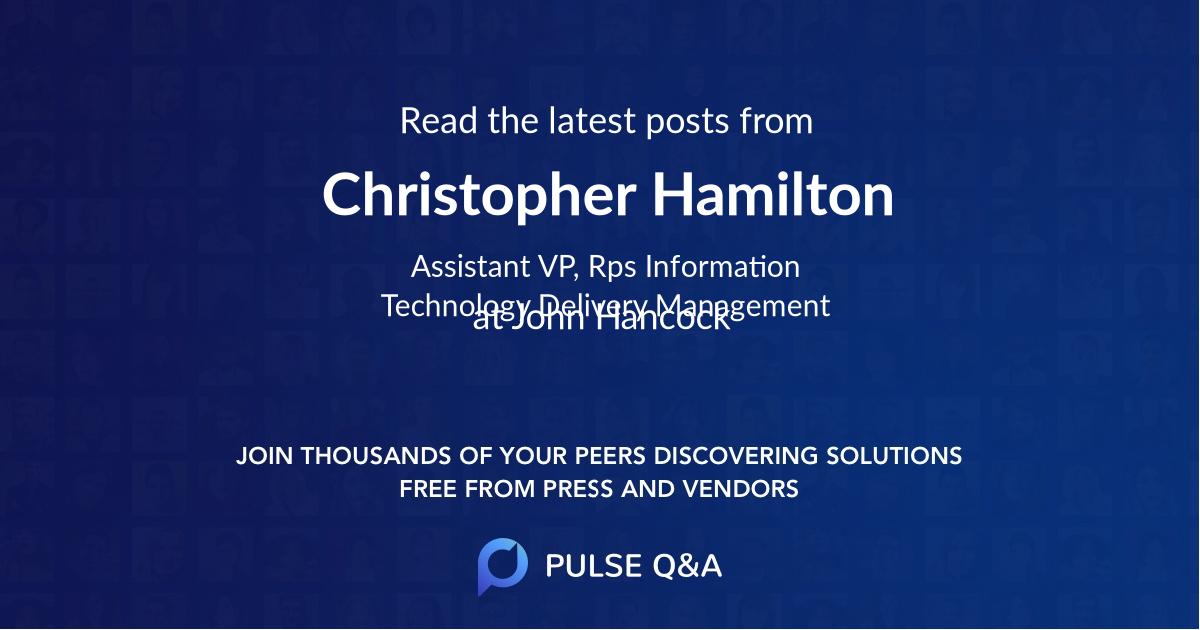 Christopher Hamilton
