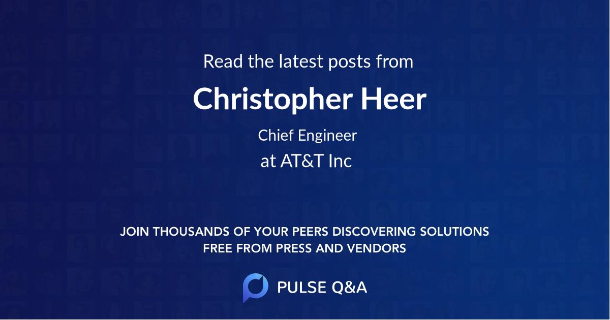 Christopher Heer
