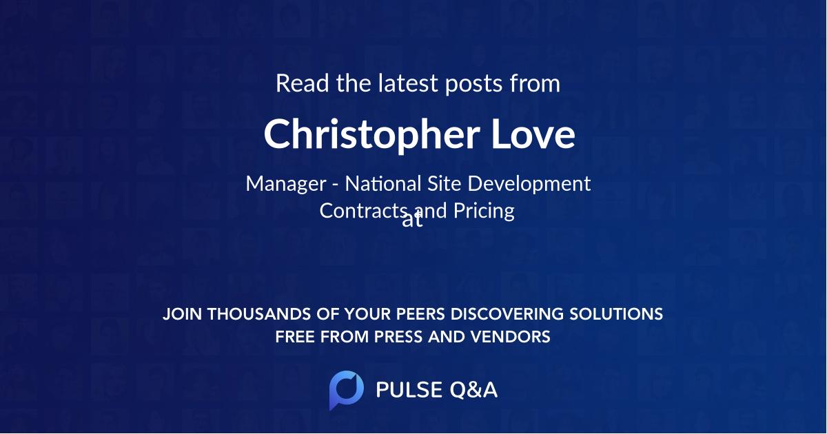 Christopher Love