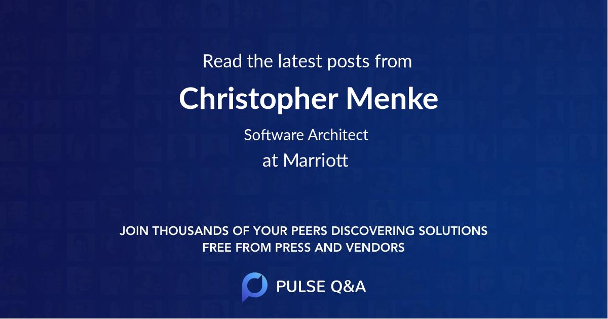 Christopher Menke