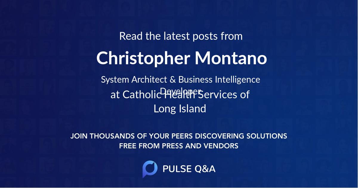 Christopher Montano